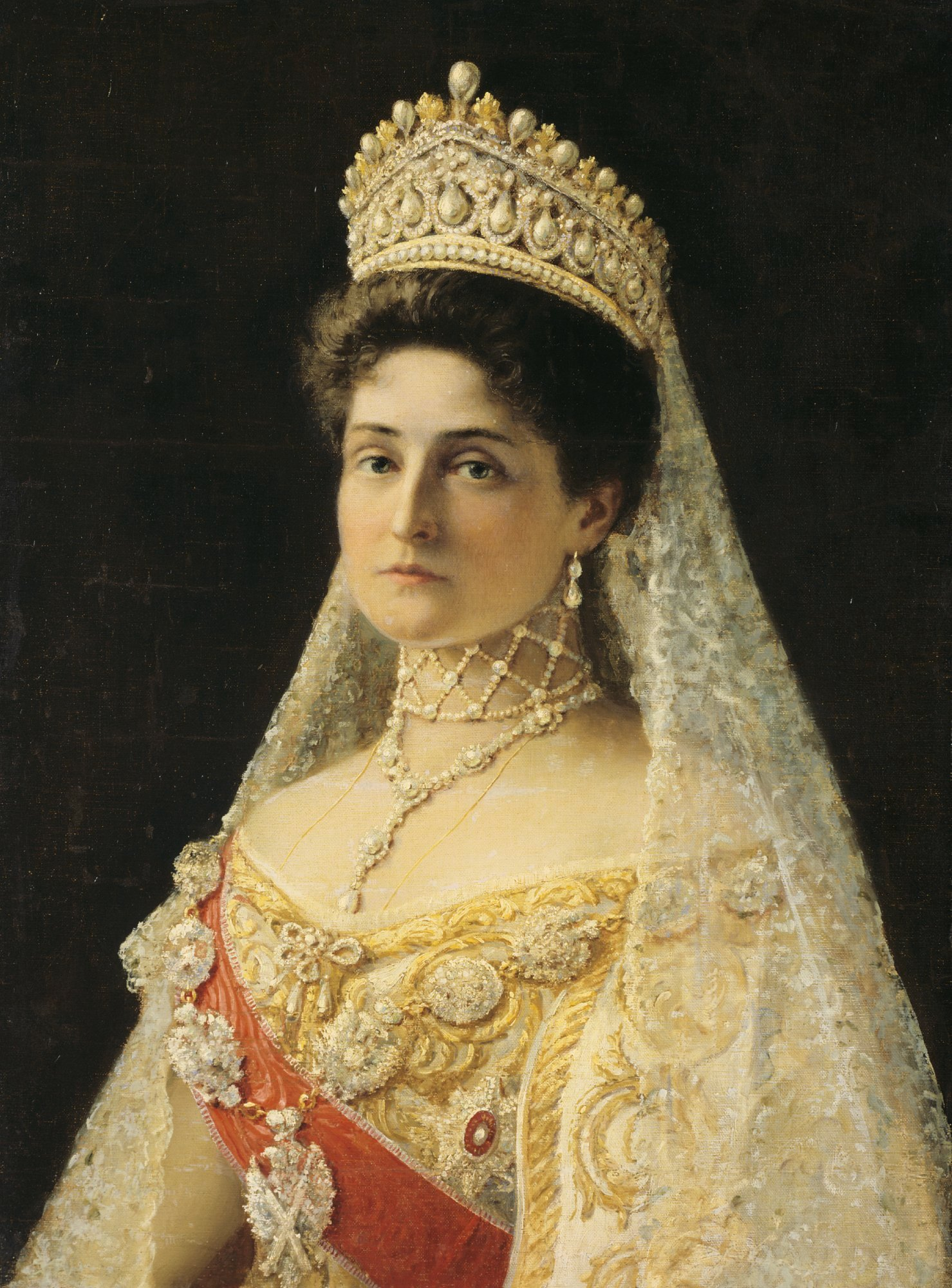 Portrait of Empress Alexandra Feodorovna by an unknown artist, ca. 1906-07