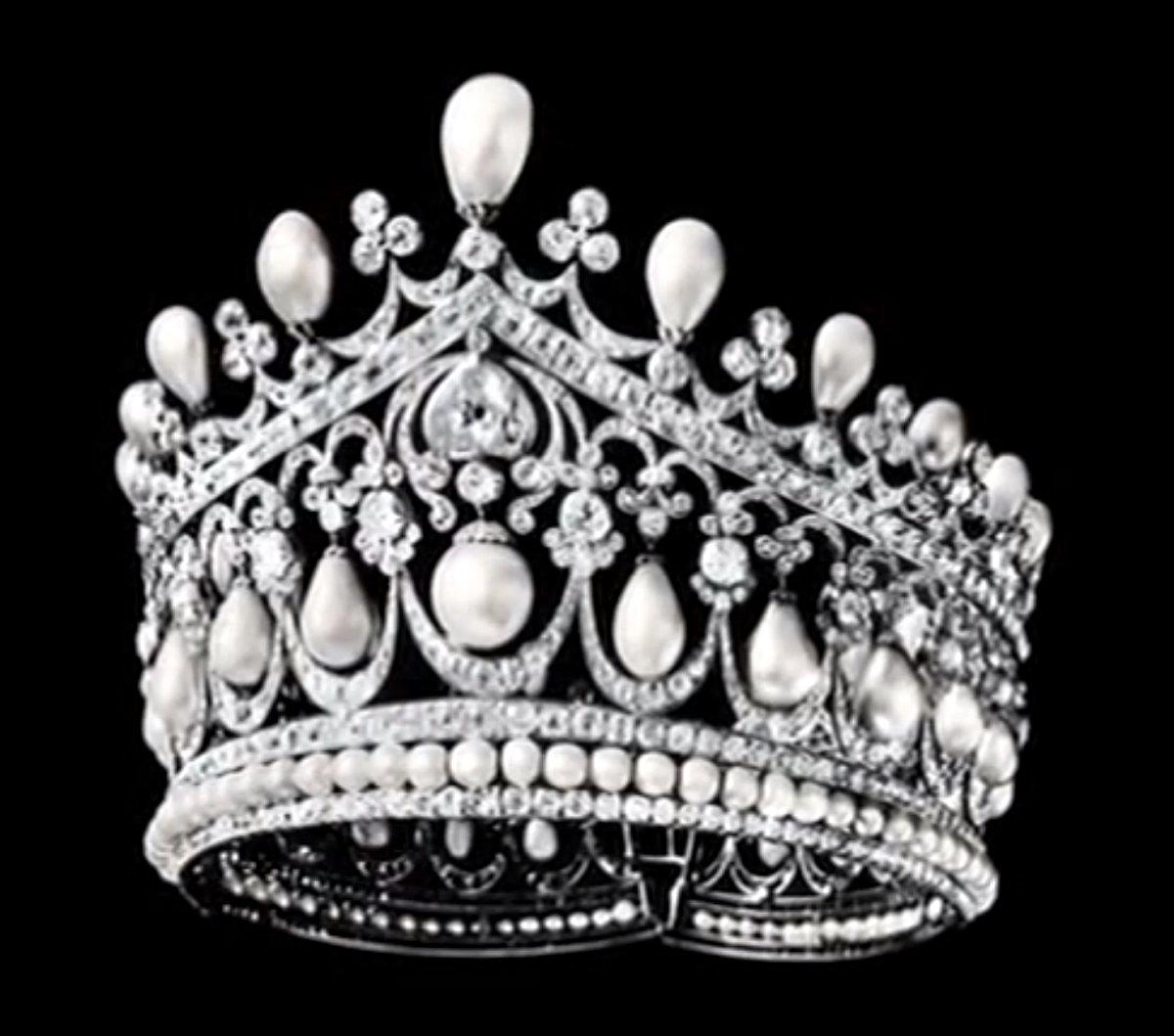 Empress Alexandra's Pearl and Diamond Tiara, ca. 1922