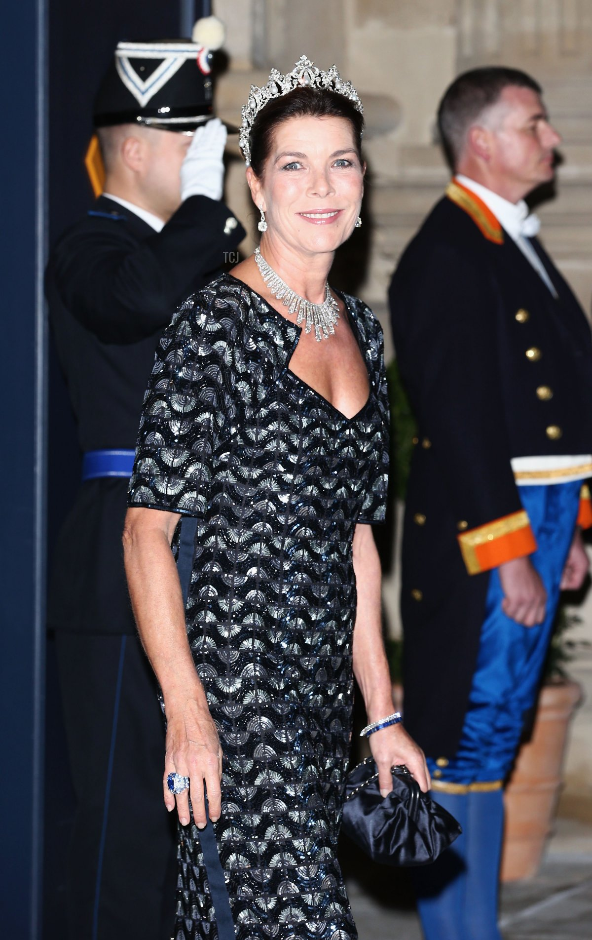 Princess Caroline of Hanover attends the Gala dinner for the wedding of Prince Guillaume Of Luxembourg and Stephanie de Lannoy at the Grand-ducal Palace on October 19, 2012 in Luxembourg, Luxembourg. The 30-year-old hereditary Grand Duke of Luxembourg is the last hereditary Prince in Europe to get married, marrying his 28-year old Belgian Countess bride in a lavish 2-day ceremony