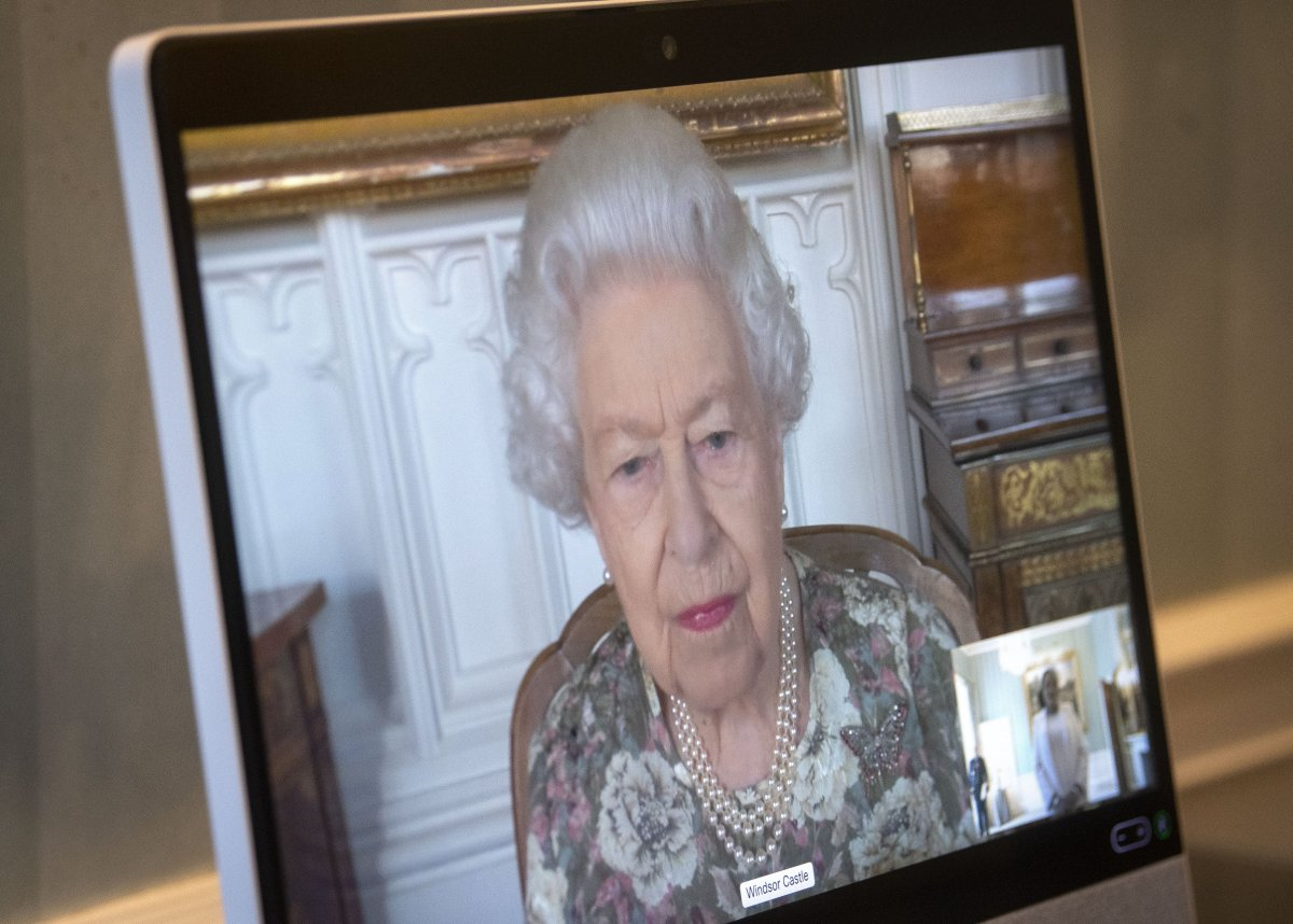 The Queen holds virtual Audiences with incoming Ambassadors via video link from Windsor Castle to Buckingham Palace, June 2021