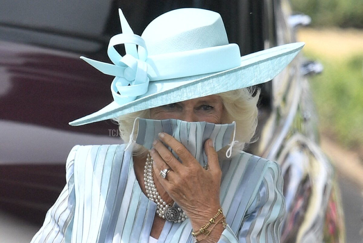 Britain's Camilla, Duchess of Cornwall attends the first day of the Royal Ascot horse racing meet, in Ascot, west of London on June 15, 2021