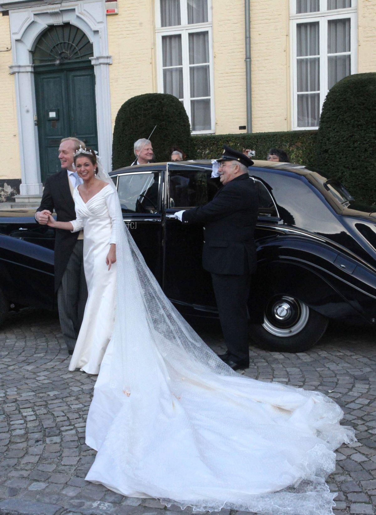 Annemarie Gualtherie van Weezel and Prince Carlos de Bourbon de Parme's royal wedding in Brussels, November 2010
