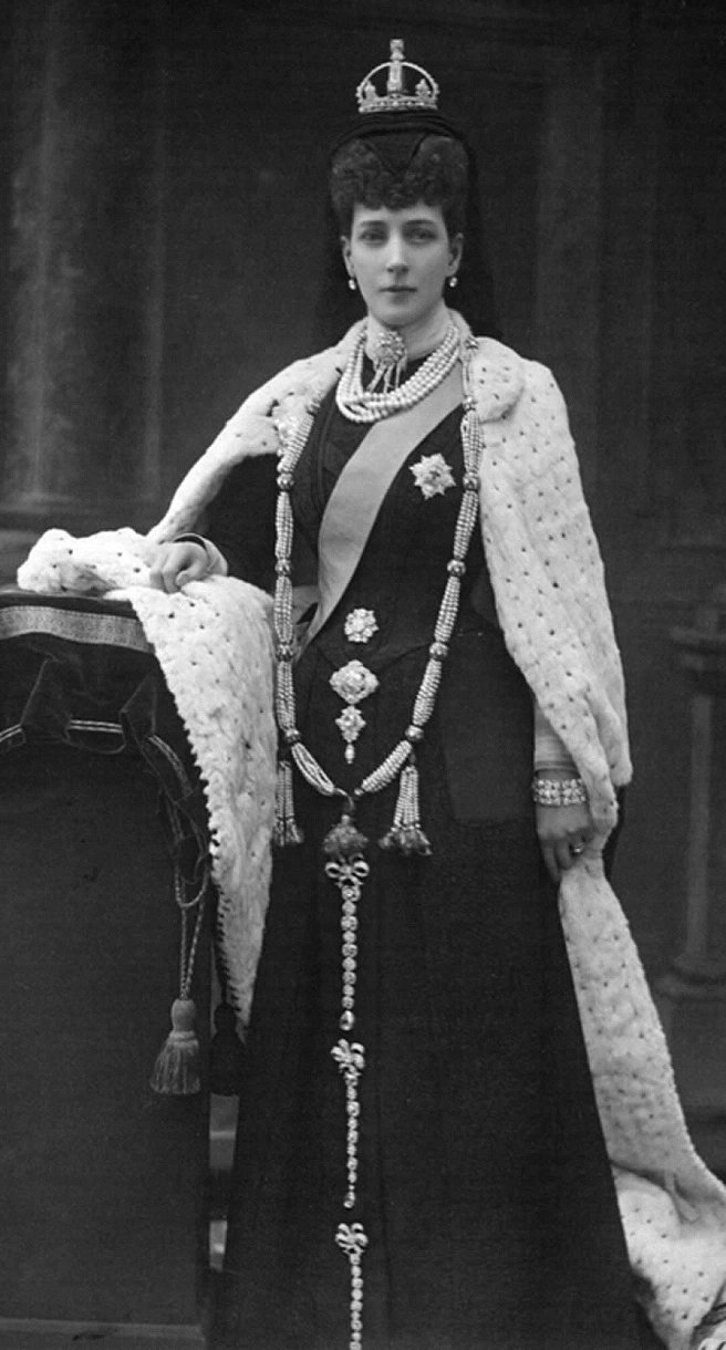 Queen Alexandra, dressed for the State Opening of Parliament, February 1901