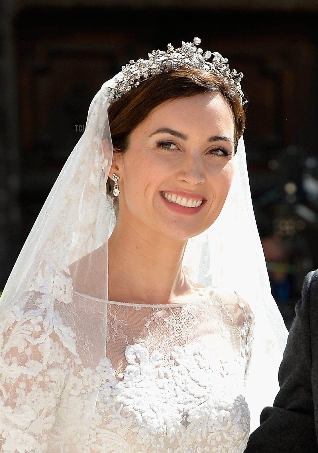 Princess Claire Of Luxembourg departs from her wedding ceremony at the Basilique Sainte Marie-Madeleine on September 21, 2013 in Saint-Maximin-La-Sainte-Baume, France