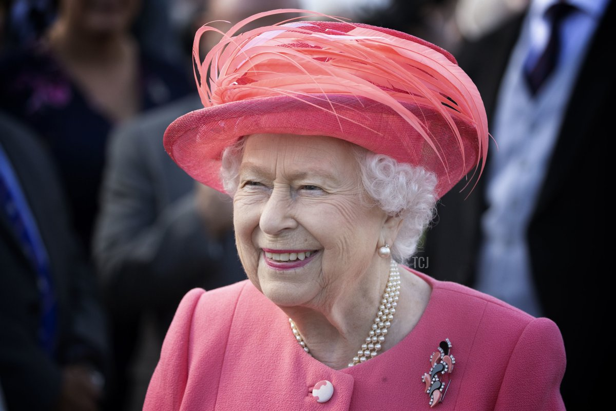 Queen Elizabeth II hosts a garden party at The Palace Of Holyroodhouse on July 3, 2019 in Edinburgh, Scotland