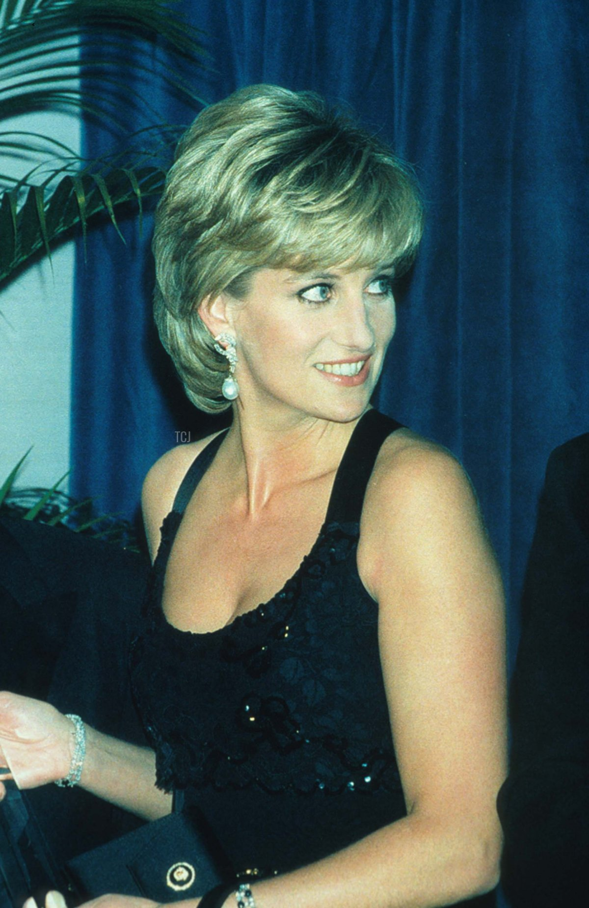 Lady Diana Spencer stands at the 41st annual United Cerebral Palsy Awards gala December 11, 1995 in New York City. Lady Diana, the Princess of Wales, received the UCP Humanitarian Award at the fundraising evening
