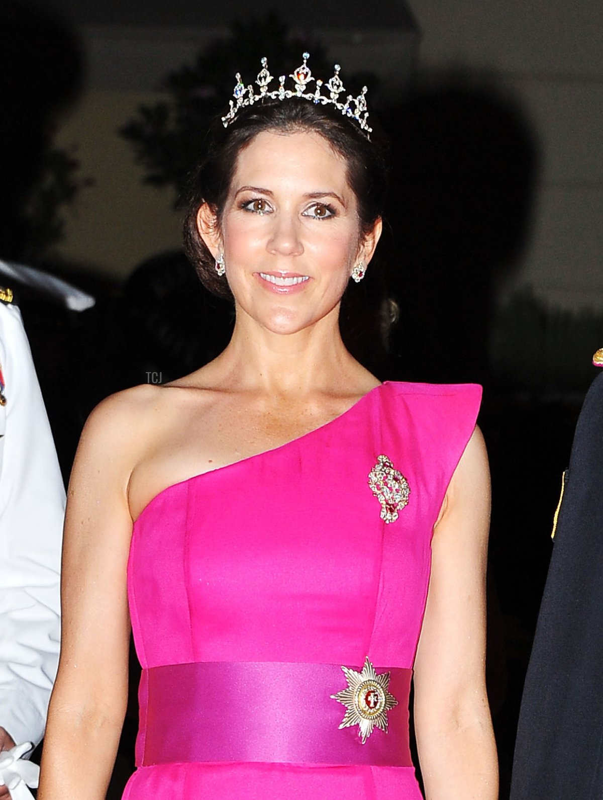 Princess Mary of Denmark and Prince Philippe of Belgium attend a dinner at Opera terraces after the religious wedding ceremony of Prince Albert II of Monaco and Princess Charlene of Monaco on July 2, 2011 in Monaco