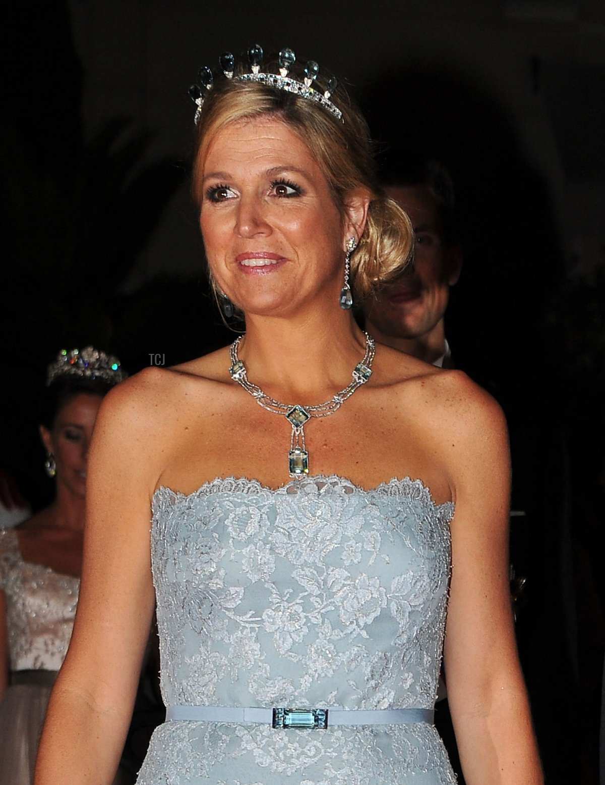 Princess Maxima of the Netherlands attends a dinner at Opera terraces after their religious wedding ceremony on July 2, 2011 in Monaco