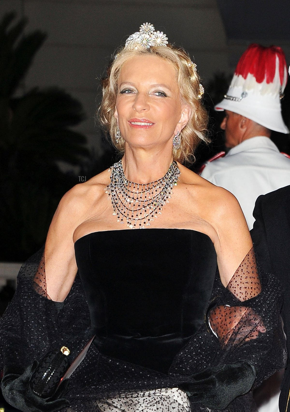 Princess and Prince Michael of Kent attends a dinner at Opera terraces after the religious wedding ceremony of Prince Albert II of Monaco and Princess Charlene of Monaco on July 2, 2011 in Monaco
