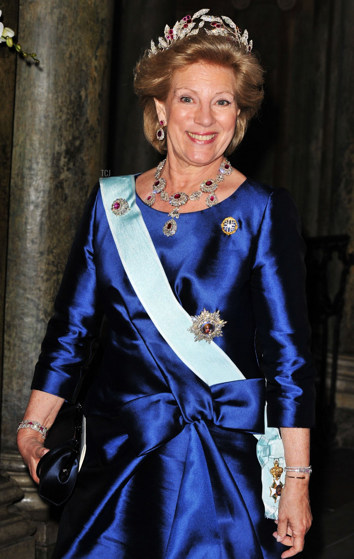 Queen Anne-Marie of Greece attends the wedding banquet for Crown Princess Victoria of Sweden and her husband Prince Daniel at the Royal Palace on June 19, 2010 in Stockholm, Sweden