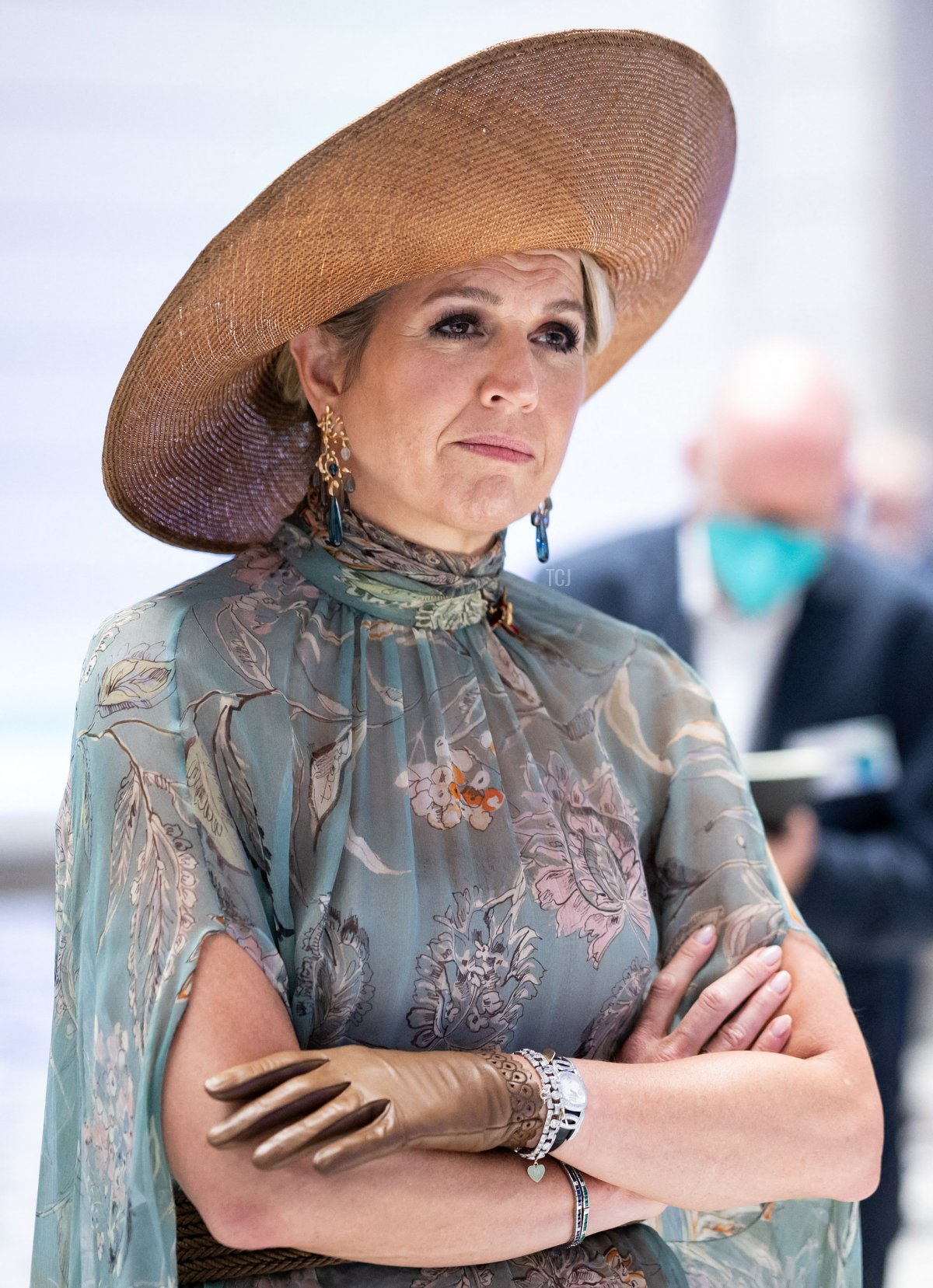 Queen Maxima of the Netherlands (L) is pictured during the Dutch royal couple's visit at the Technical University (TU) of Berlin to learn about key technologies from photonics and quantum research, in Berlin on July 7, 2021