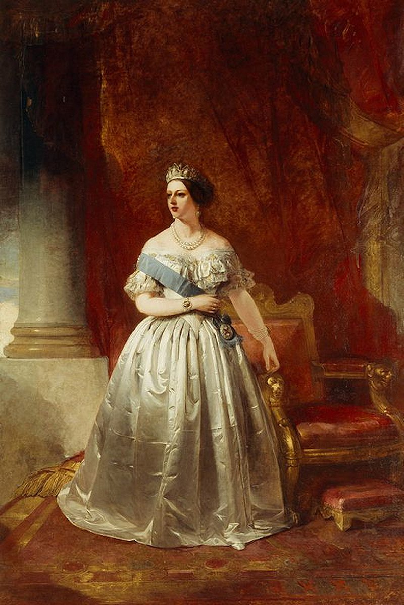 Stephen Catterson Smith's 1854 portrait of Queen Victoria, painted to commemorate her visit to Dublin the previous year