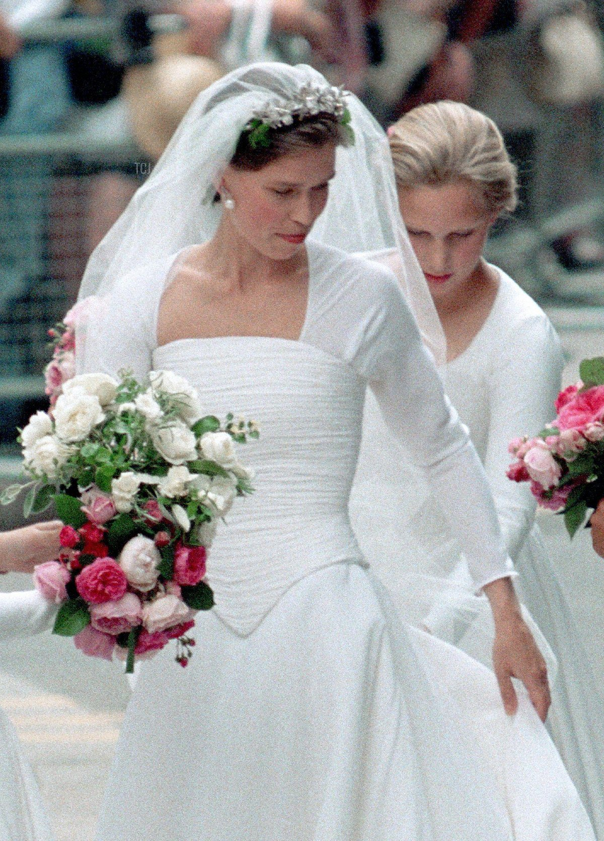 Lady Sarah Armstrong Jones arrives for her marriage to Daniel Chatto at St Stephen's Church, London, Britain
