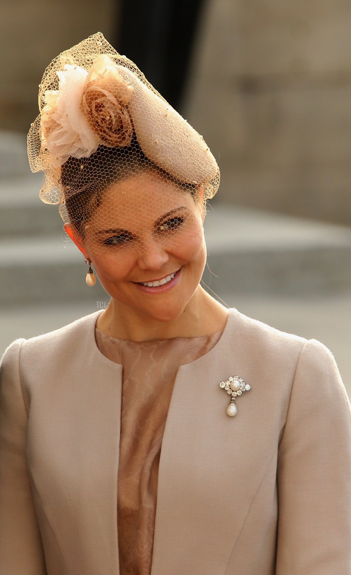 Crown Princess Victoria of Sweden attends the wedding ceremony of Prince Guillaume Of Luxembourg and Princess Stephanie of Luxembourg at the Cathedral of our Lady of Luxembourg on October 20, 2012 in Luxembourg