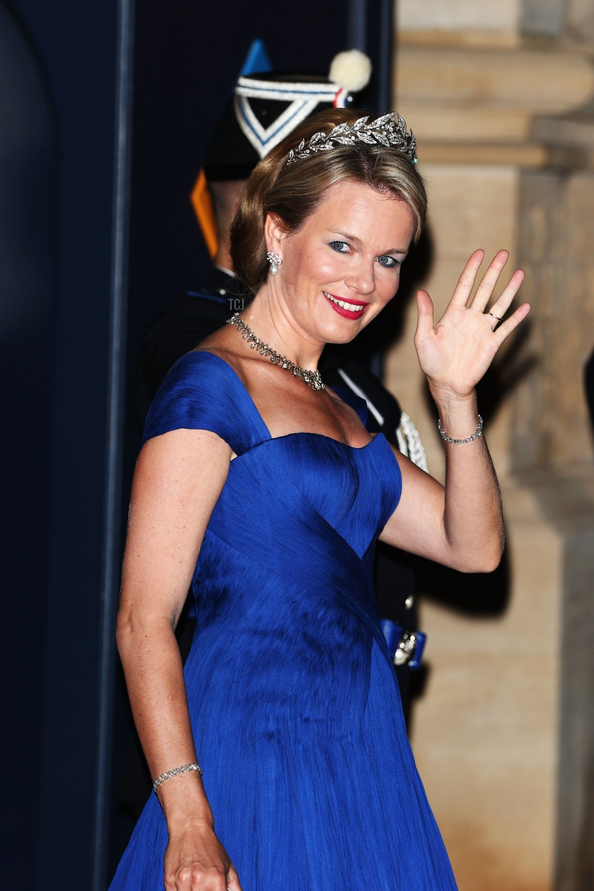 Princess Mathilde of Belgium attends the Gala dinner for the wedding of Prince Guillaume Of Luxembourg and Stephanie de Lannoy at the Grand-ducal Palace on October 19, 2012 in Luxembourg