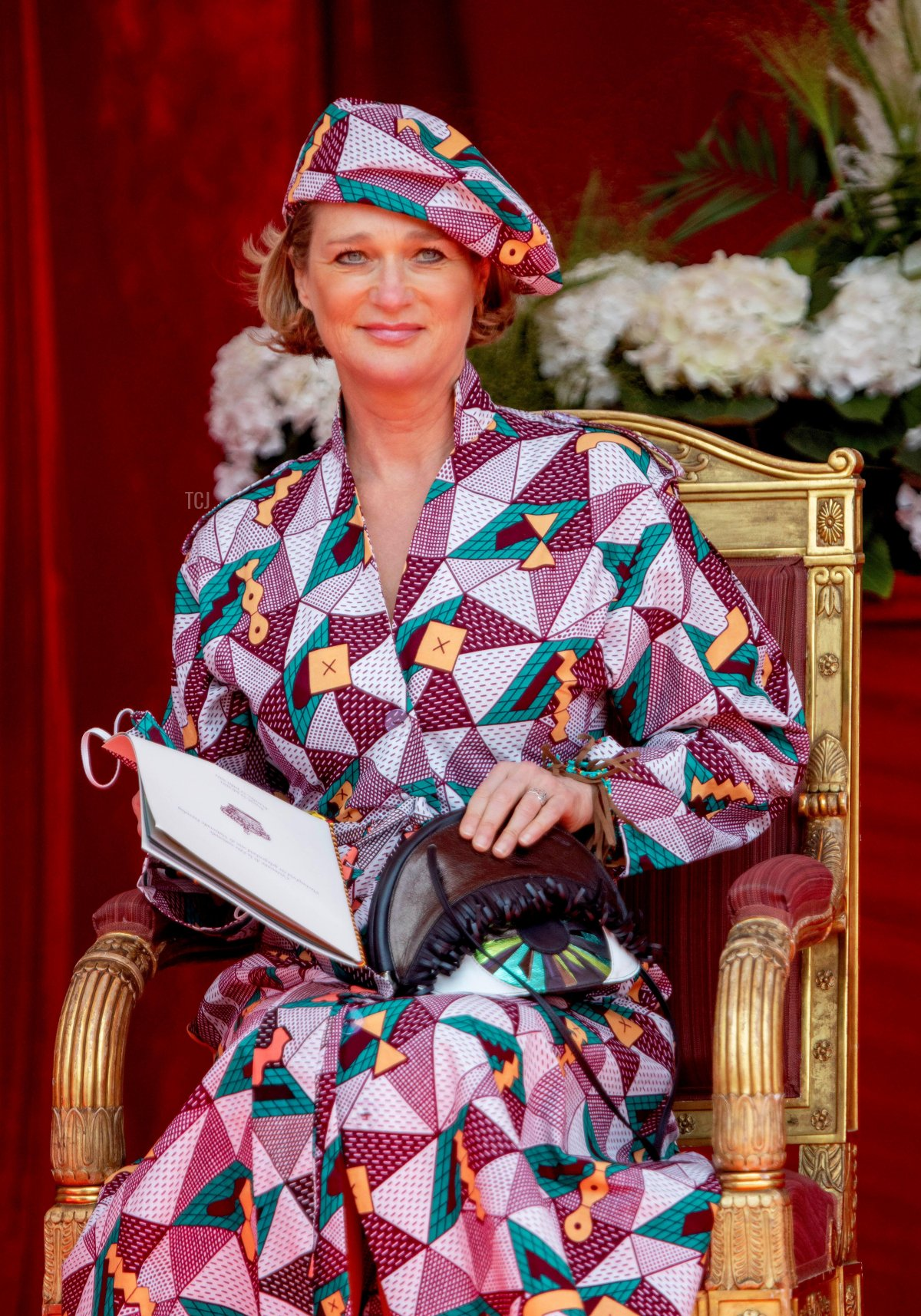Princess Delphine of Belgium attends the military parade in Brussels on National Day, July 21, 2021