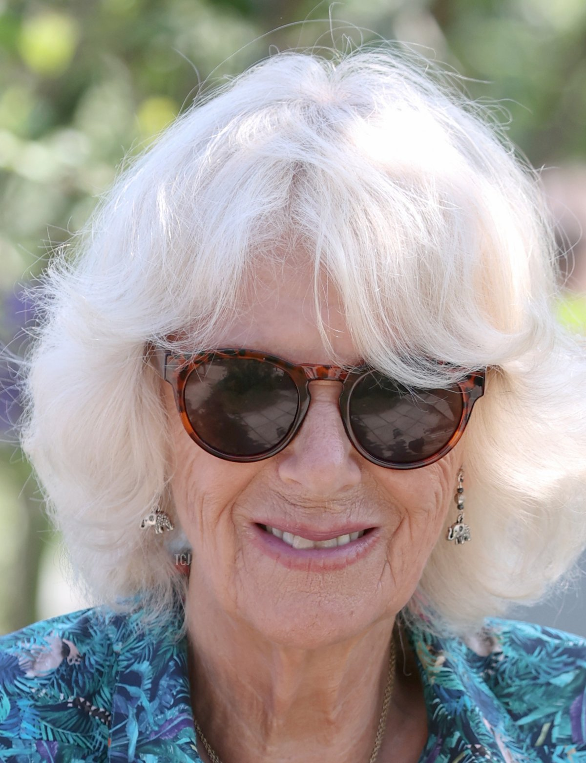 Camilla, Duchess of Cornwall smiles as she visits Five Islands Academy School for an Eco Conference, with Prince Charles, Prince of Wales, during Day 2 of their visit to Devon and Cornwall on July 20, 2021 in St Mary's, Isles of Scilly