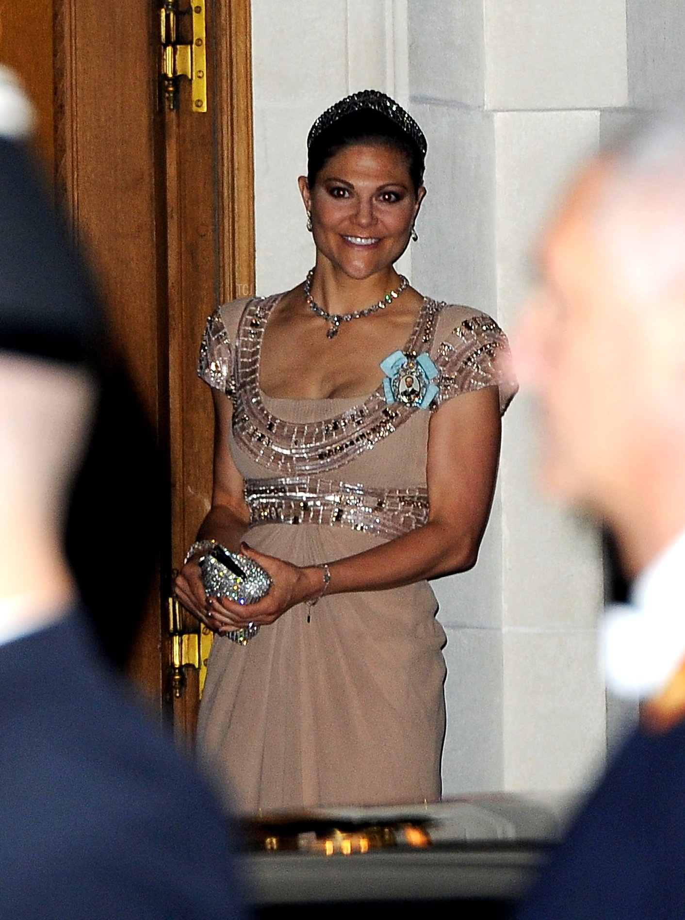 Crown Princess Victoria of Sweden attends the Gala dinner for the wedding of Prince Guillaume Of Luxembourg and Stephanie de Lannoy at the Grand-ducal Palace on October 19, 2012 in Luxembourg