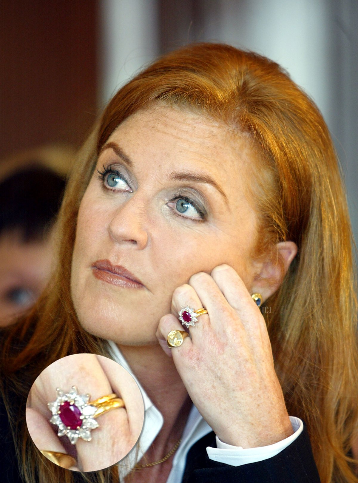 The Duchess of York Sarah Ferguson attends a press conference announcing the launch of a public service campaign to alert parents about the warning signs of Primary Immunodeficiency (PI) April 29, 2002 in New York City
