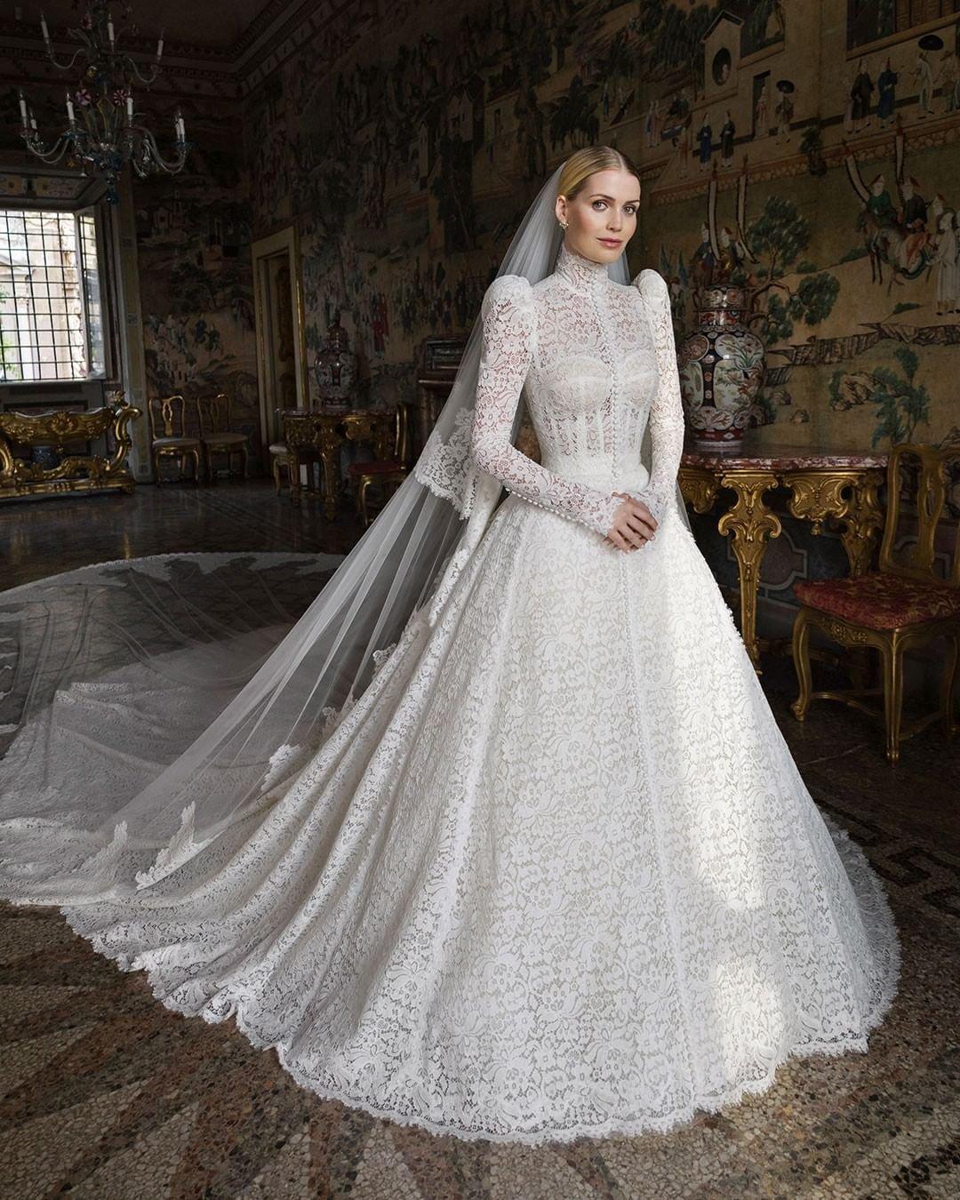 Lady Kitty Spencer wears Dolce & Gabbana on her wedding day, July 2021
