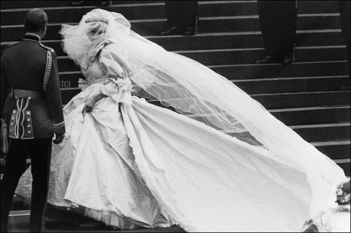 Lady Diana Spencer on her wedding day, 1981