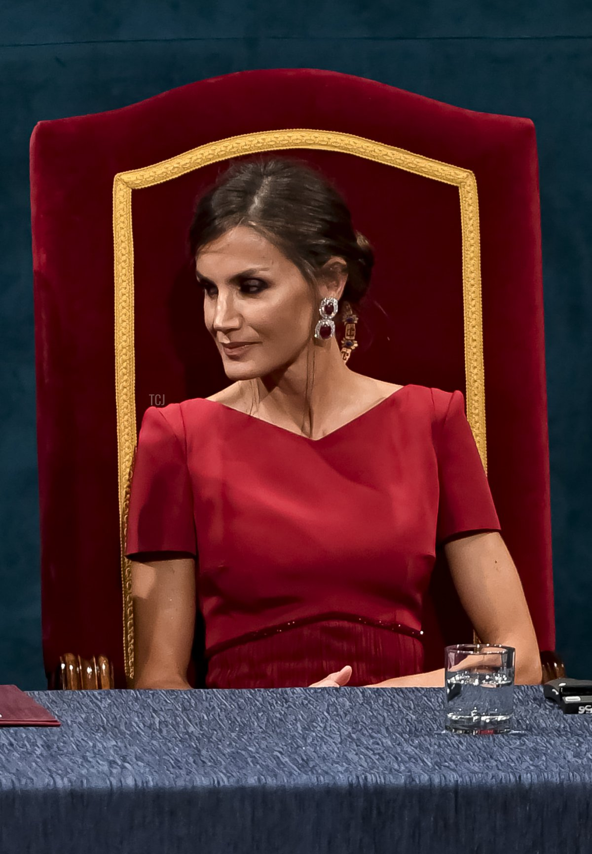 King Felipe of Spain and Queen Letizia of Spain attend the Princesa de Asturias Awards 2019 ceremony at the Campoamor Theater on October 18, 2019 in Oviedo, Spain