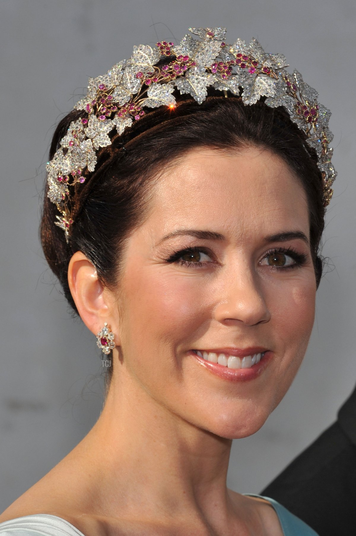 Crown Princess Mary of Denmark attends the wedding of Prince Joachim and Princess Marie of Denmark, May 2008
