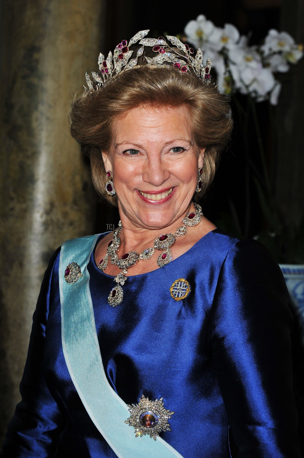 Queen Anne-Marie of Greece attends the wedding of Crown Princess Victoria and Prince Daniel of Sweden, June 2010