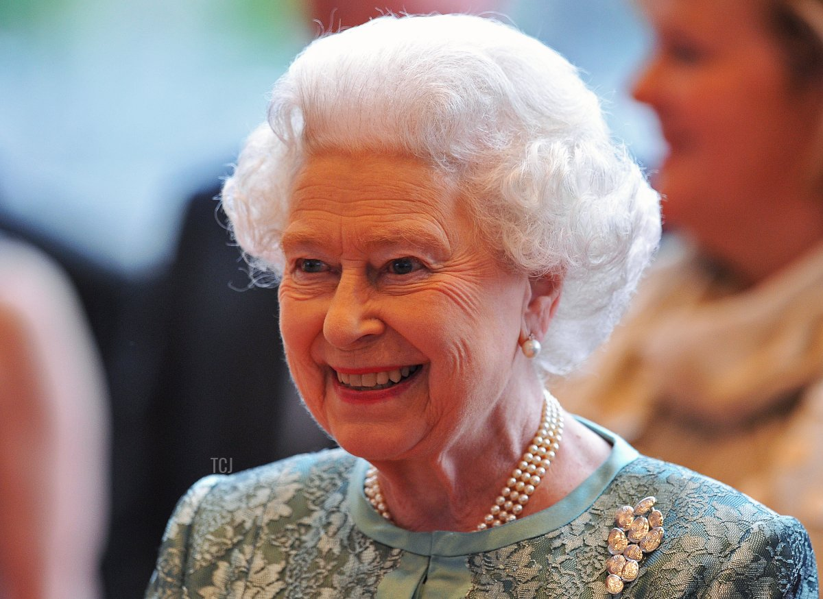 Queen Elizabeth II smiles at the National Convention Centre, Dublin on May 19, 2011