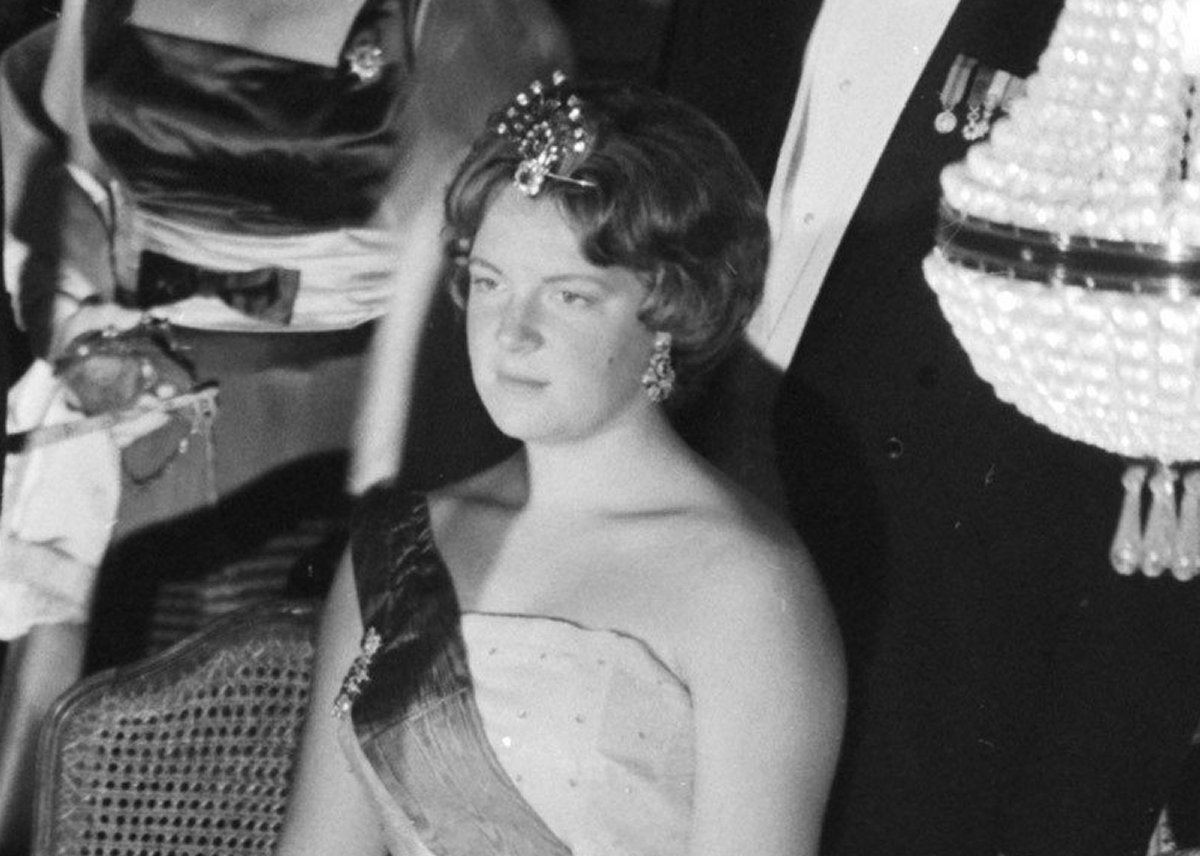 Princess Irene of the Netherlands attends a gala during the Belgian state visit, July 1959