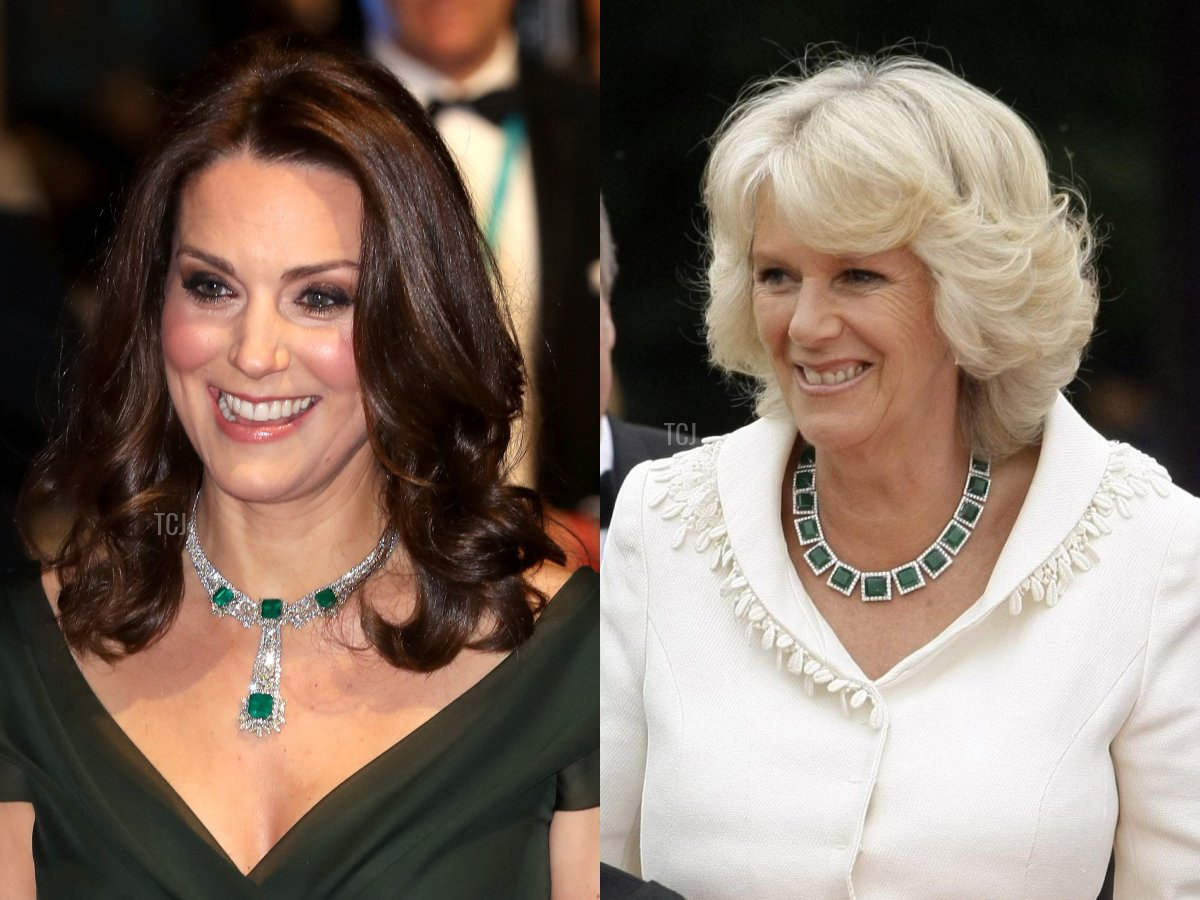 Kate's Modern Emerald Necklace, Camilla's Emerald Necklace