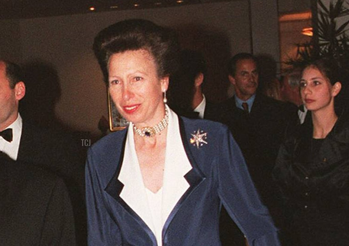 John Coates and Princess Anne pictured during a reception to mark her visit on July 10, 2000 in Sydney, Australia