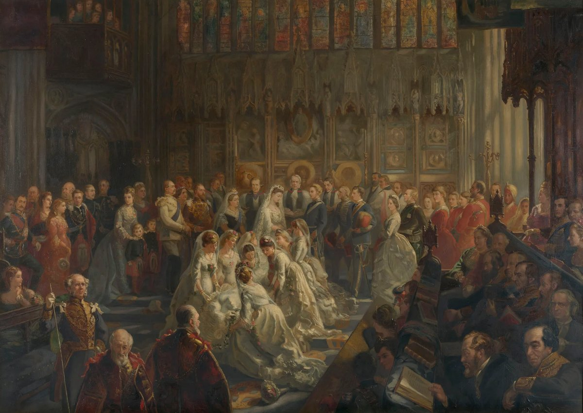 The Marriage of Princess Louise, 21 March 1871 by Sydney Prior Hall