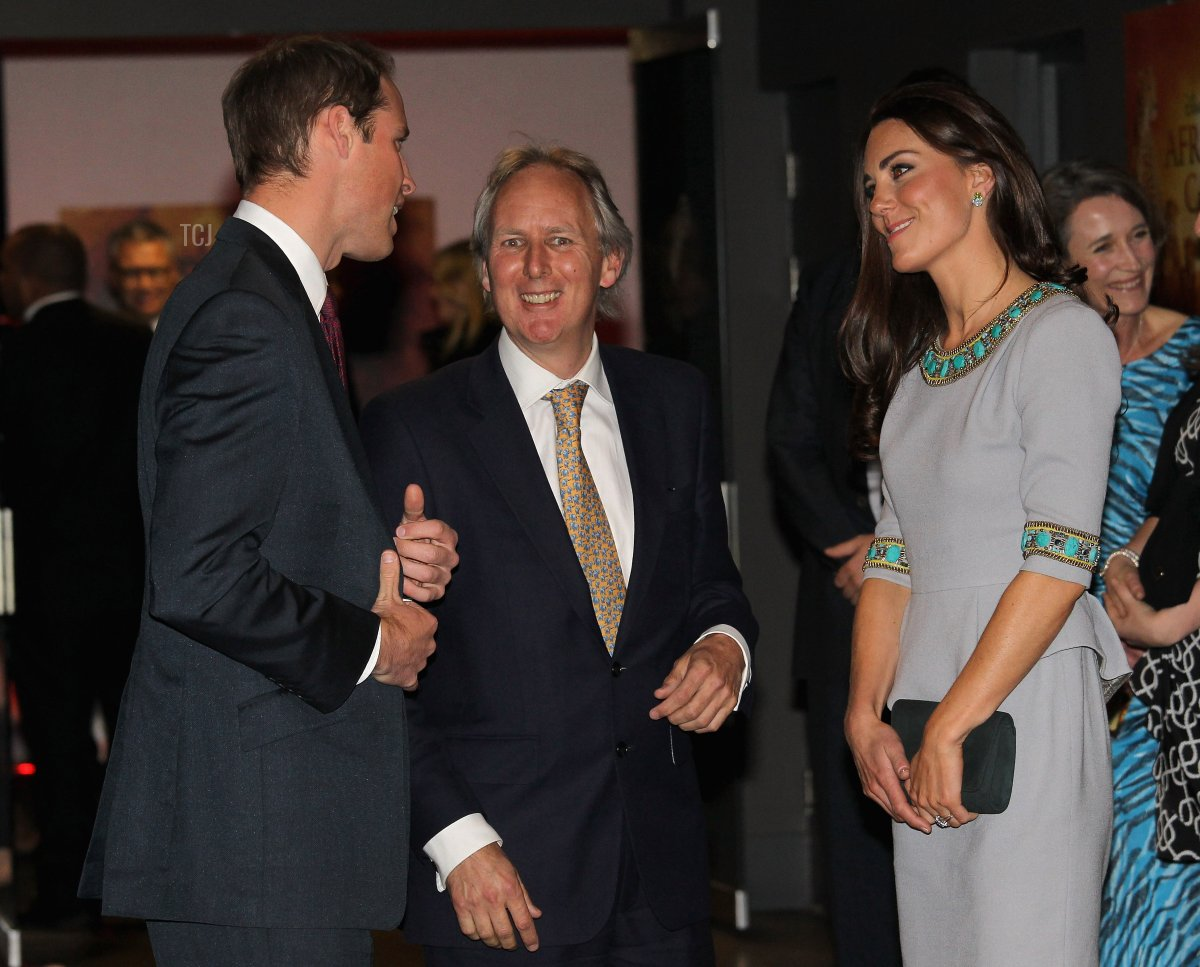 Catherine, Duchess of Cambridge, attends the UK Premiere of the film 'African Cats' in London on April 25, 2012