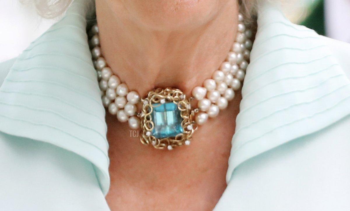 Camilla's Aquamarine & Pearl Choker