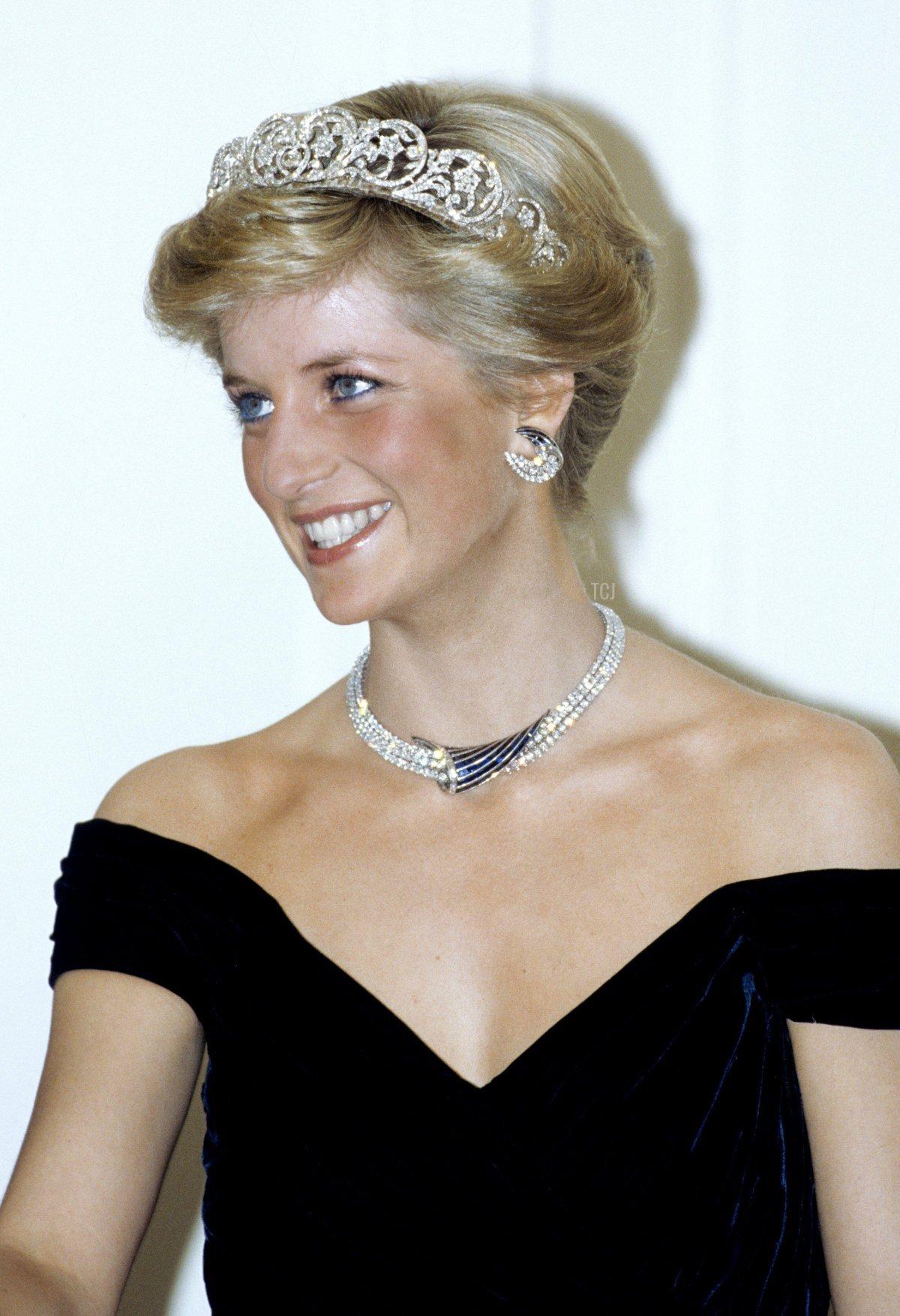 Prince and Princess of Wales visiting Germany, November 1987