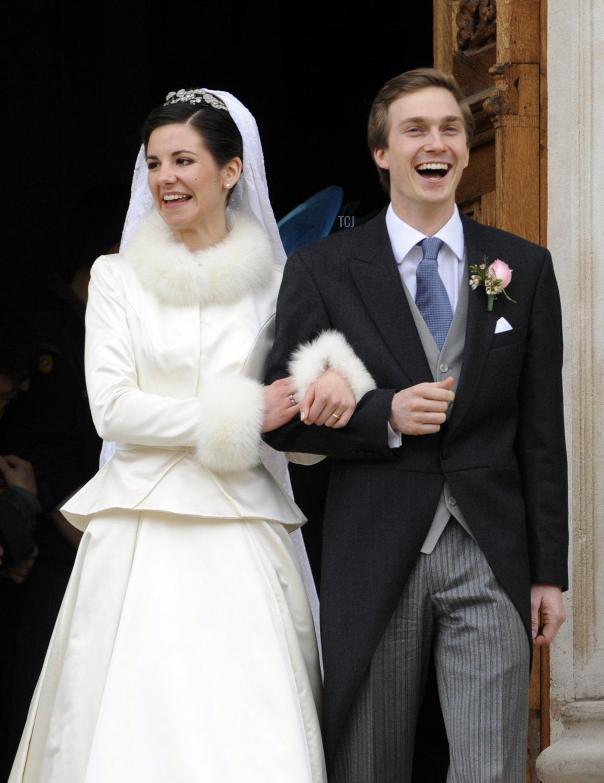 Archduke Christoph of Austria and Adelaide Drape-Frisch on their wedding day, Dec 2012