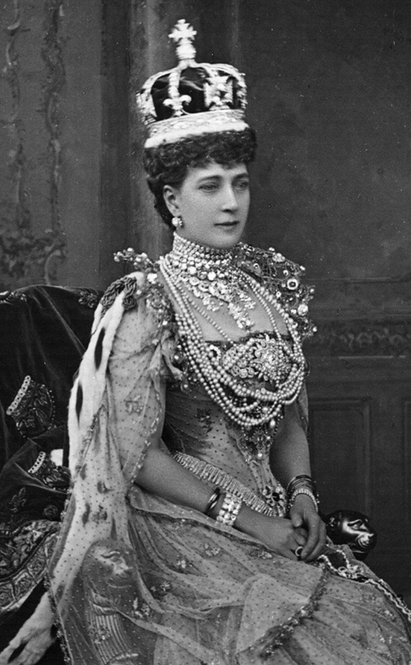 Queen Alexandra in her coronation gown, 1902