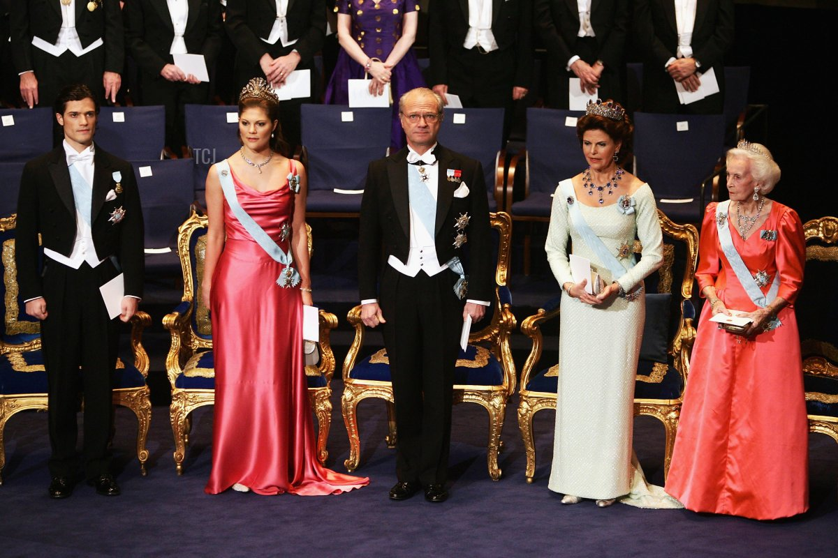 The Swedish Royal family during the the awarding ceremony of the Nobel Prizes at City Hall December 10, 2004 in Stockholm, Sweden