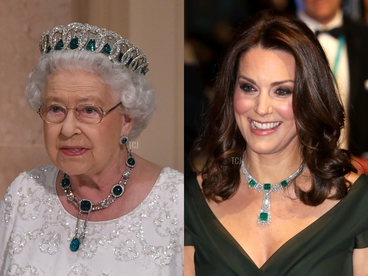 The Delhi Durbar Necklace and Kate's Modern Emerald Necklace