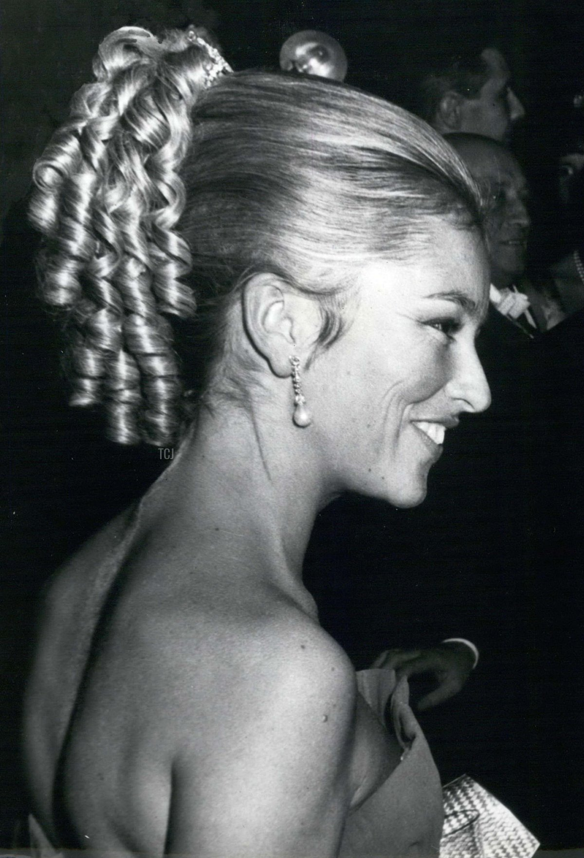 Princess Paola at Brussels Reception for Luxembourg Officials, October 1967