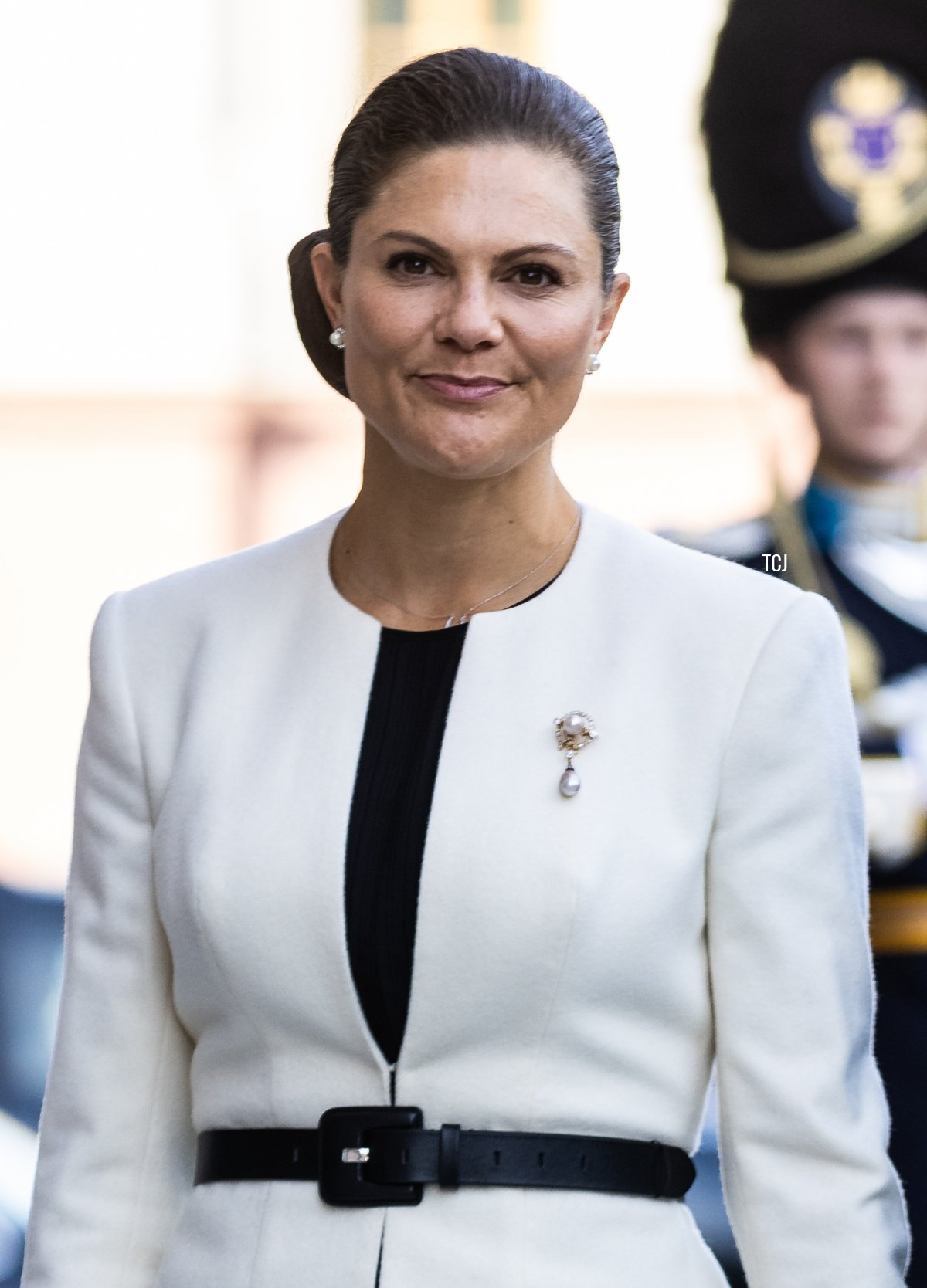 Crown Princess Victoria of Sweden attends a ceremony in connection with opening of the Swedish Parliament for the 2021/22 work year at the Swedish Parliament House on September 14, 2021 in Stockholm, Sweden