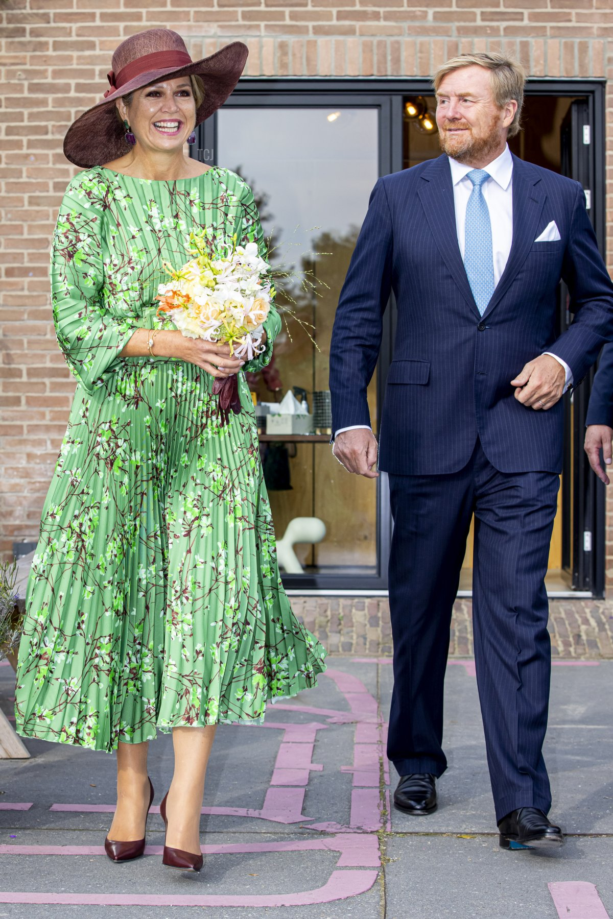 King Willem-Alexander of The Netherlands and Queen Maxima of The Netherlands visit the harbor of Deventer that is changed into an area for entrepreneurs on September 14, 2021 in Deventer, Netherlands