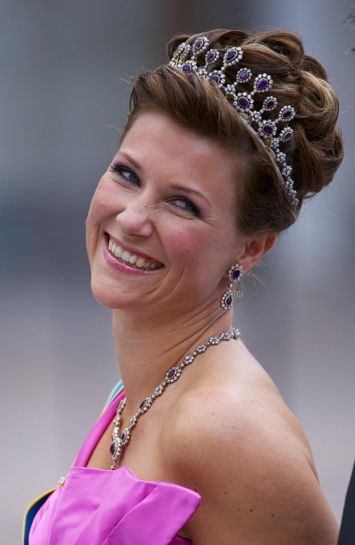 Princess Martha Louise of Norway and husband Mr Ari Behn attend the wedding of Crown Princess Victoria of Sweden and Daniel Westling on June 19, 2010 in Stockholm, Sweden
