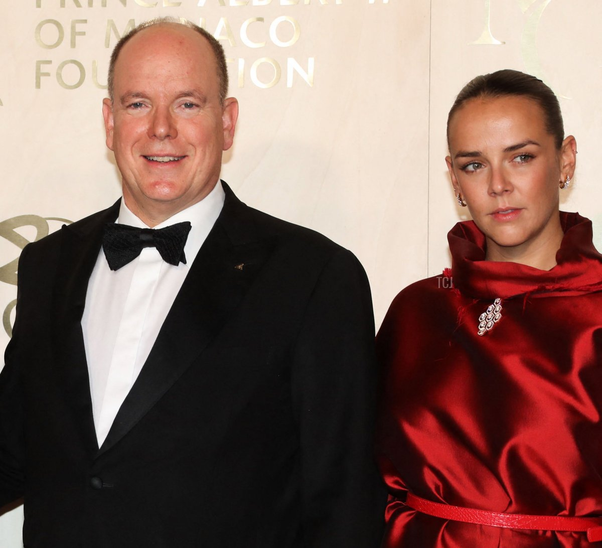 Prince's Albert II of Monaco and Pauline Ducruet pose during the photocall ahead of the 2021 Monte-Carlo Gala for Planetary Health at the Palais de Monaco, in Monaco, on September 23, 2021