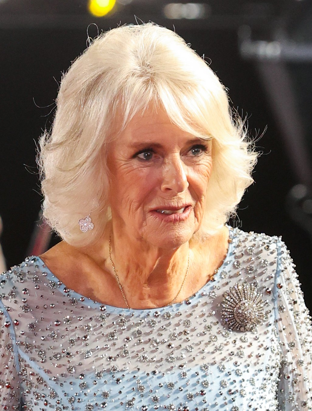 """Camilla, Duchess of Cornwall, attends the """"No Time To Die"""" World Premiere at Royal Albert Hall on September 28, 2021 in London, England"""