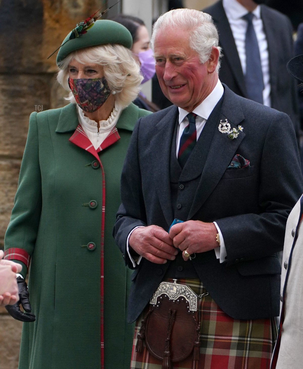 Camilla, Duchess of Cornwall and Prince Charles, Prince of Wales, known as the Duke and Duchess of Rothesay when in Scotland, arrive for the opening of the sixth session of the Scottish Parliament on October 02, 2021 in Edinburgh, Scotland