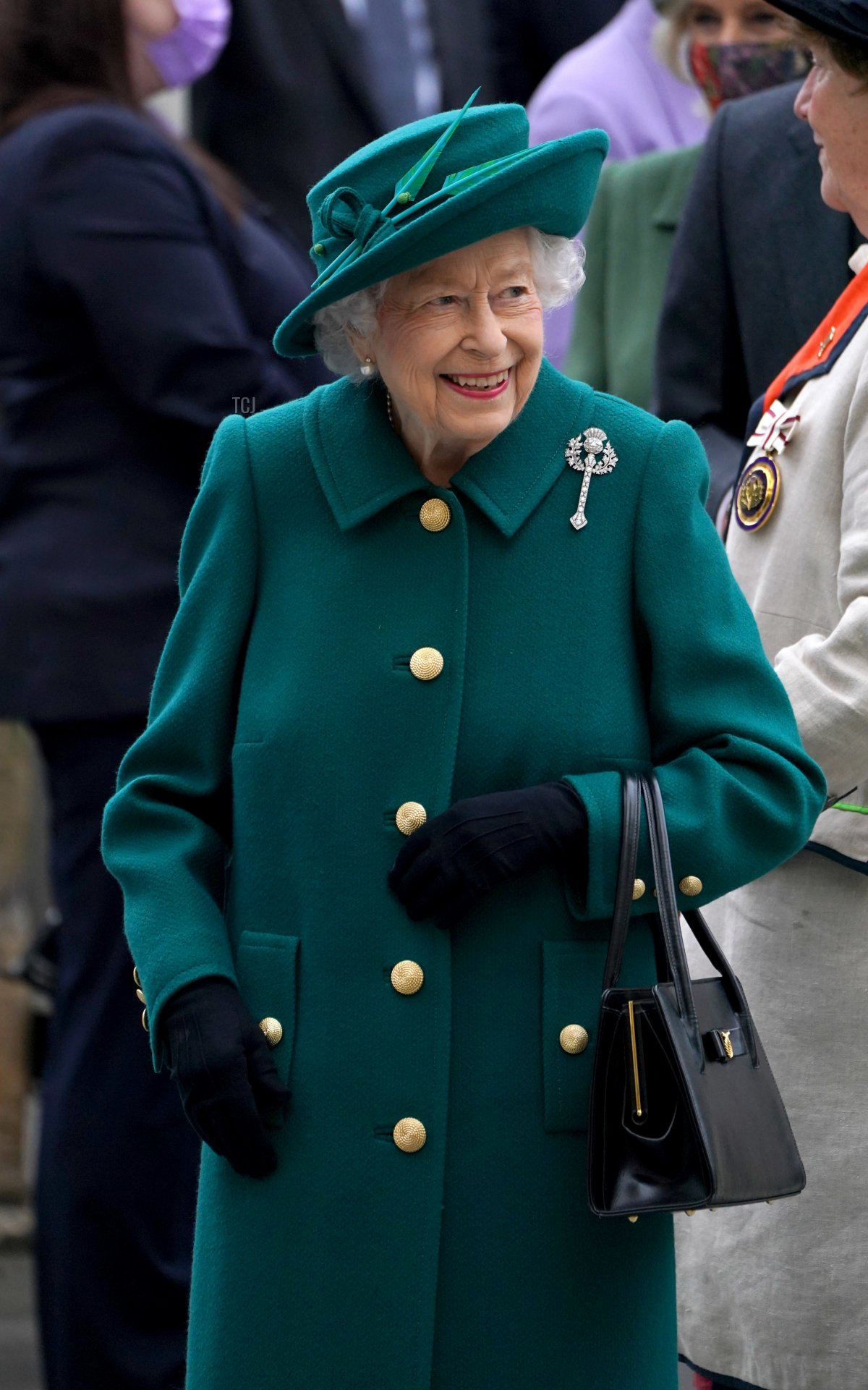 Queen Elizabeth II arrives for the opening of the sixth session of the Scottish Parliament on October 02, 2021 in Edinburgh, Scotland