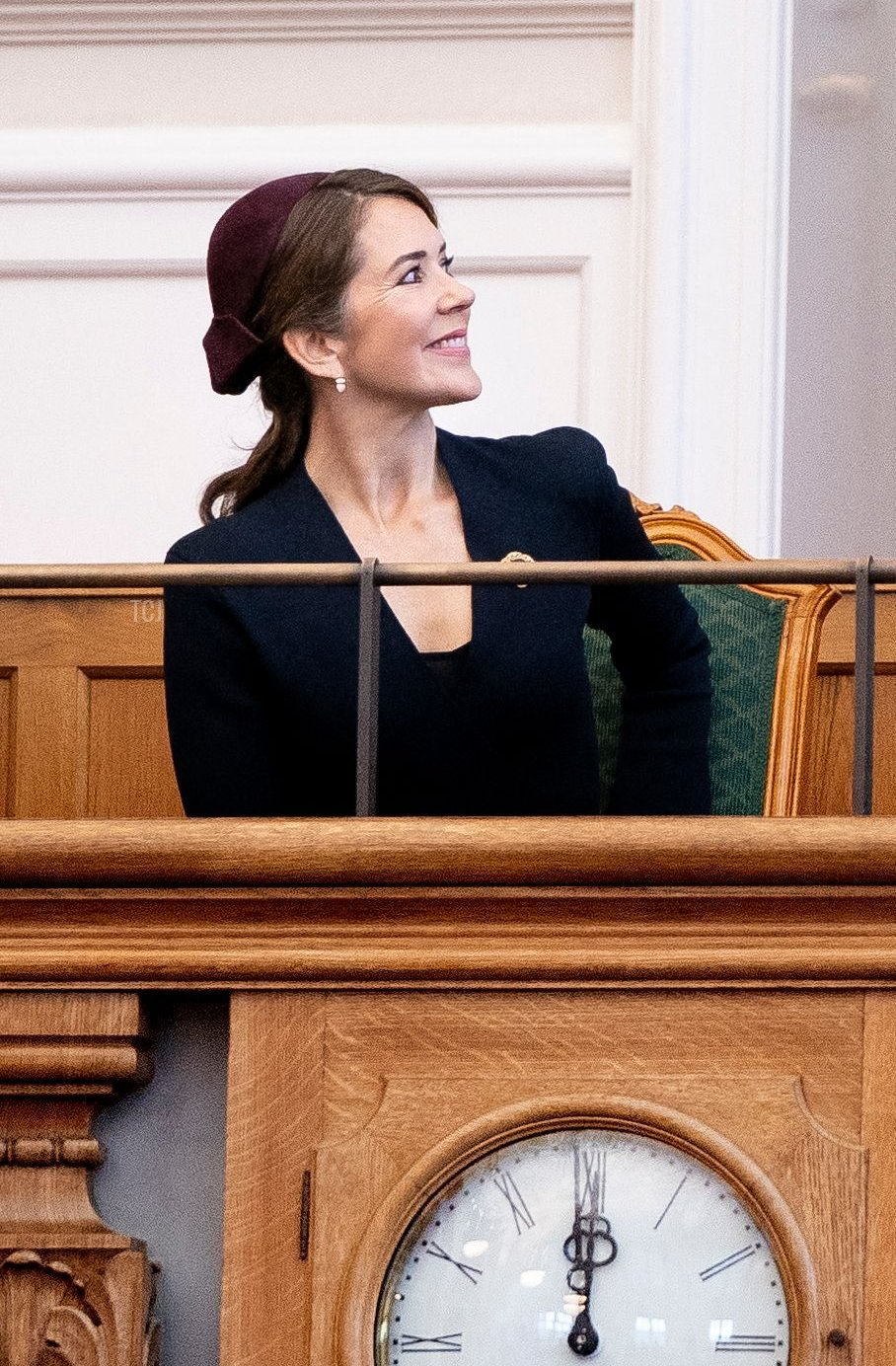 Crown Princess Mary of Denmark during the opening of the Danish Parliament Folketinget in Copenhagen, Denmark, on October 5, 2021