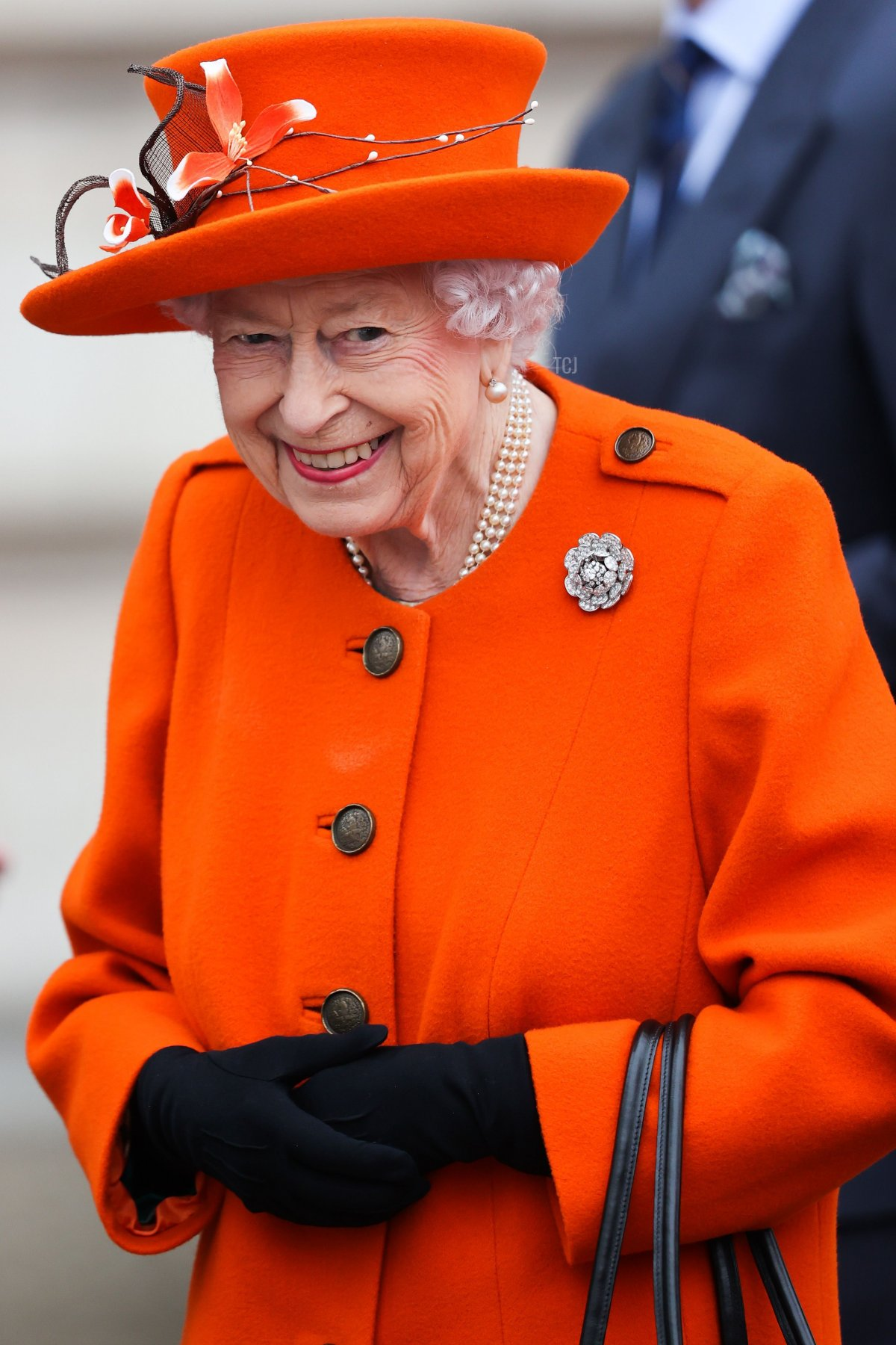 Queen Elizabeth II attends the launch of The Queen's Baton Relay for Birmingham 2022, the XXII Commonwealth Games at Buckingham Palace on October 07, 2021 in London, England